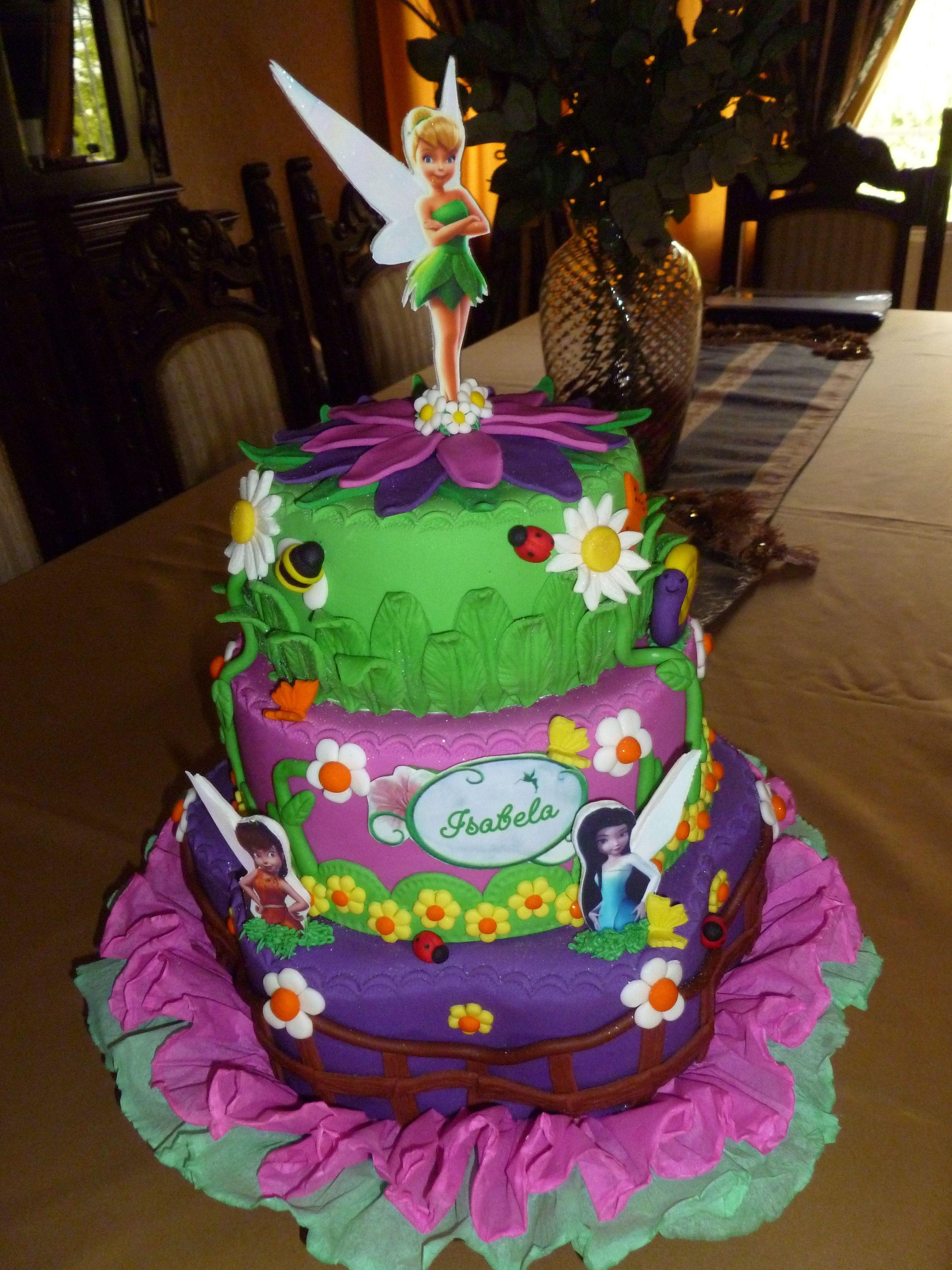 Torta de Tinkerbell | tortas decoradas | Pinterest | Campanilla