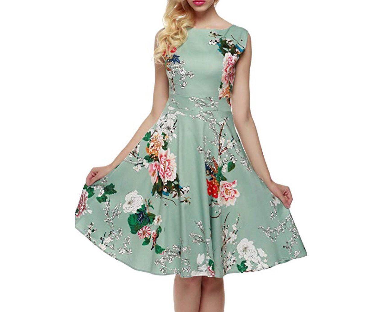 Vintage Inspired Cocktail Dress Light Green Floral Vintage Inspired Cocktail Dress Vintage Tea Dress Vintage Dresses [ 1035 x 1242 Pixel ]