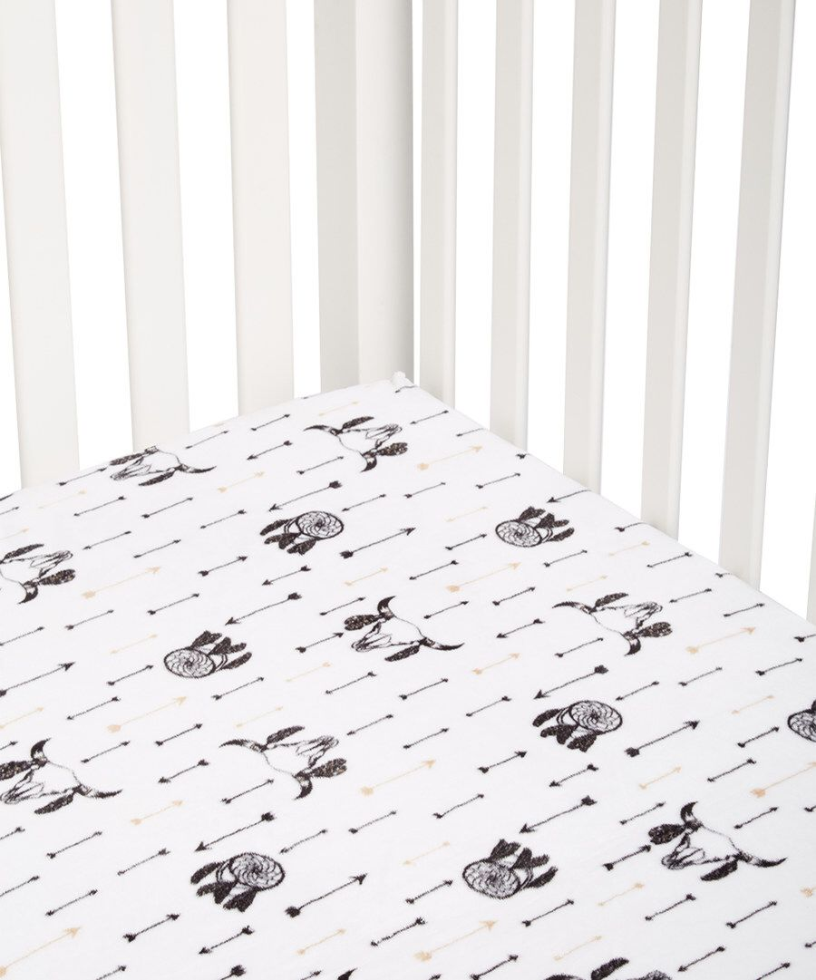 Zulily baby cribs - Look At This Lolly Gags White Bull S Eye Arrows Minky Crib Sheet On Zulily Today