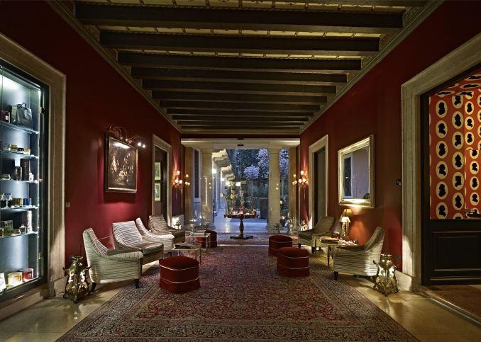 The Gentelman of Verona boutique Hotel in Verona Verona City - garten lounge uberdacht