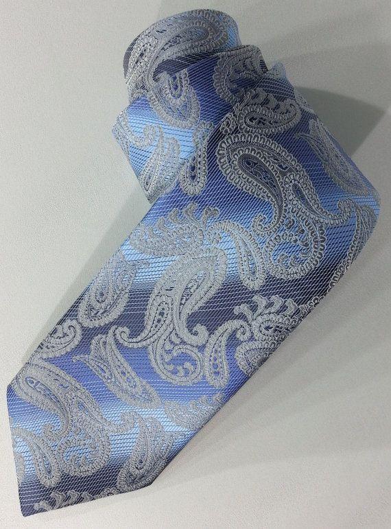 Blue Tie Blue Men's Necktie Blue Cravat EDK145201 by PeraTime #handmadeatamazon #nazodesign