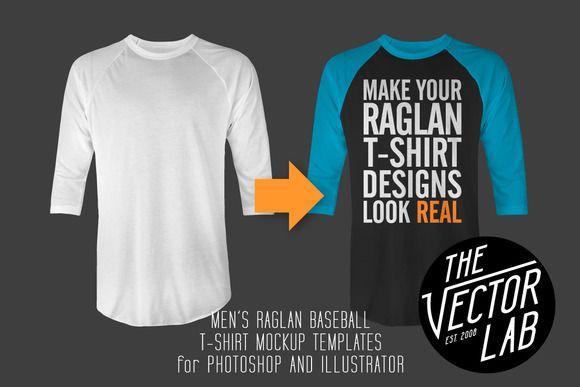 Download Men S Raglan Mockup Templates Psd Ai Mockup Templates Shirt Designs Mens Raglan