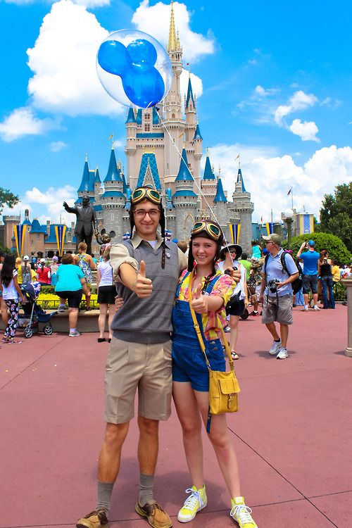 Carl and Ellie . Up. I almost cried this is so cute! | The ...Young Carl And Ellie Disneybound