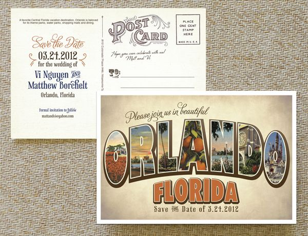 Postcard Save the Date - Vintage Wedding Pinterest Large - Formal Invitation Letters