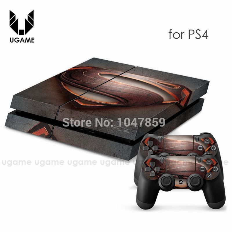 Skin Sticker for sony PS4 Play station 4 Console + Controller Decals superman sticker for dualshock 4 ps4 console