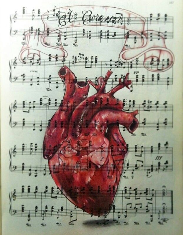 Music heart art pinterest music heart random drawings and music heart ccuart Image collections