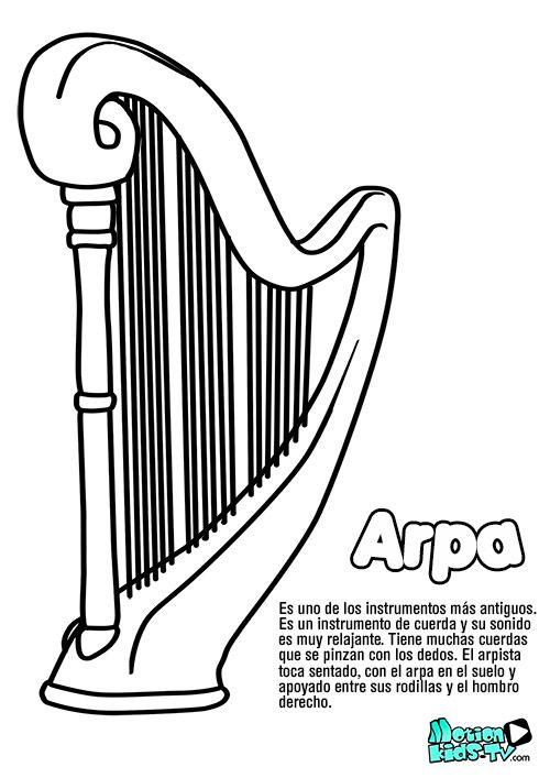 Pintas instrumentos musica ARPA, recursos educativos musica ...