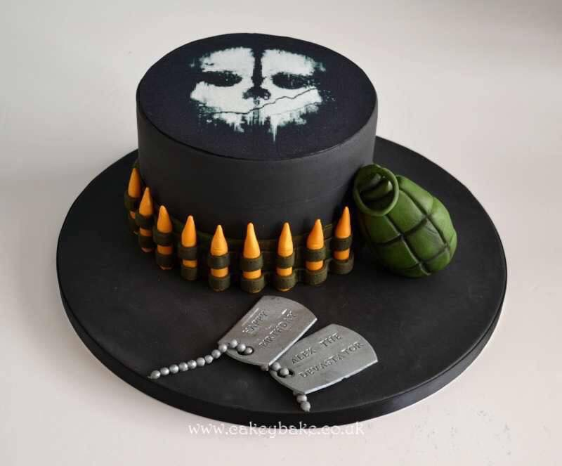 Call of Duty Cake by Kirsty Low wwwcakeybakecouk Cakes