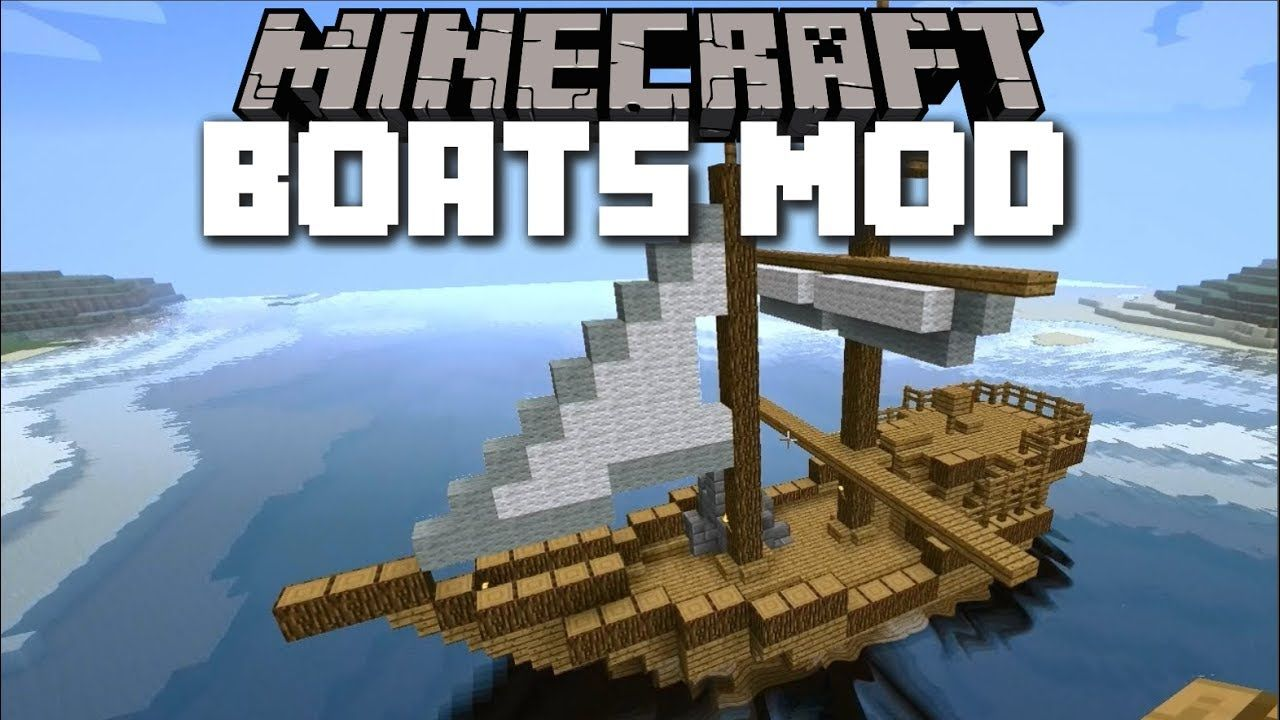 Minecraft boat mod travel with your own handmade boats