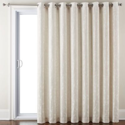 Jcpenney Home Quinn Leaf Grommet Top Patio Panel Panel Curtains Patio Panel