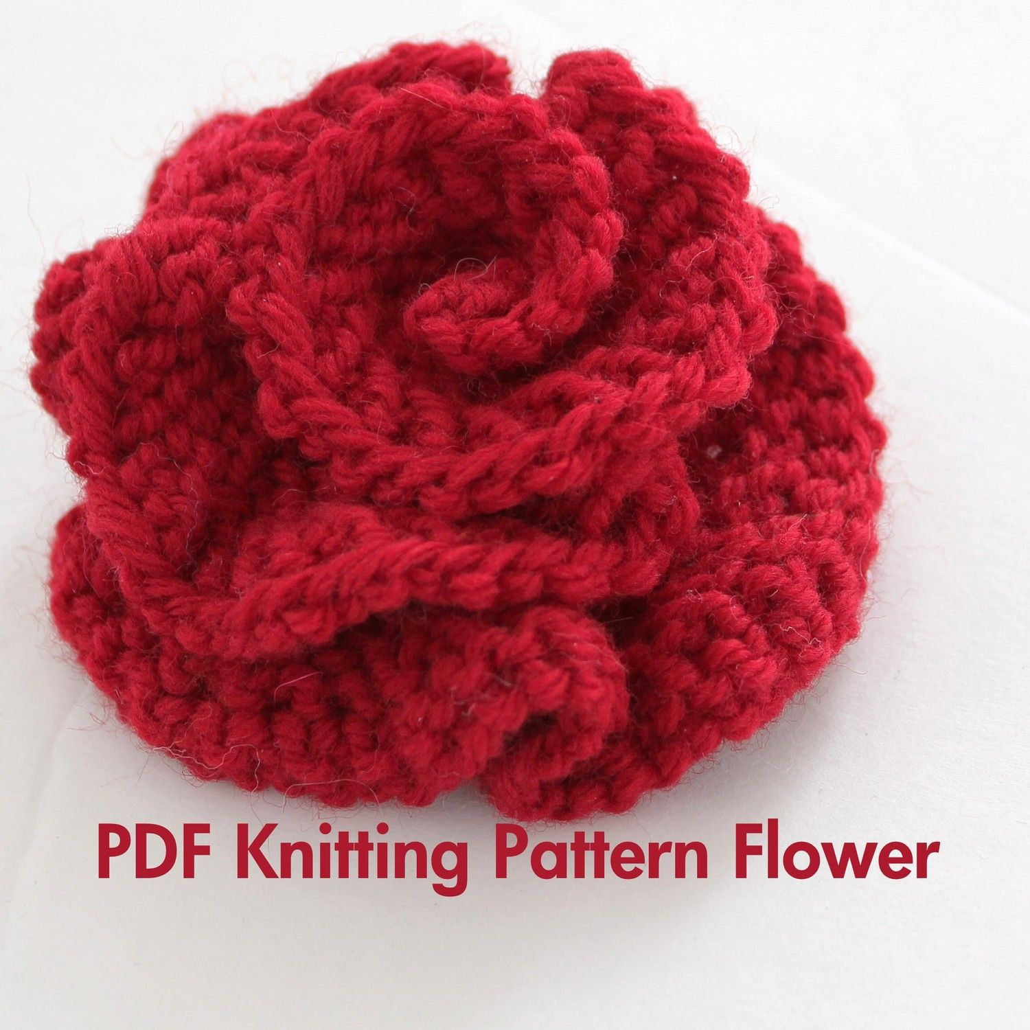 PATTERN - Knitted Flower PDF Pattern Very Easy Photo Tutorial. , via ...