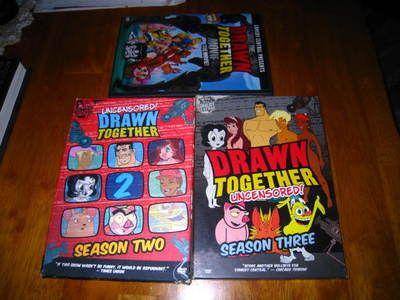 http://www.ebay.com/itm/3-DRAWN-TOGETHER-DVD-THE-MOVIE-SEASON-TWO-THREE-/110875907212?pt=US_DVD_HD_DVD_Blu_ray=item19d0b8148c