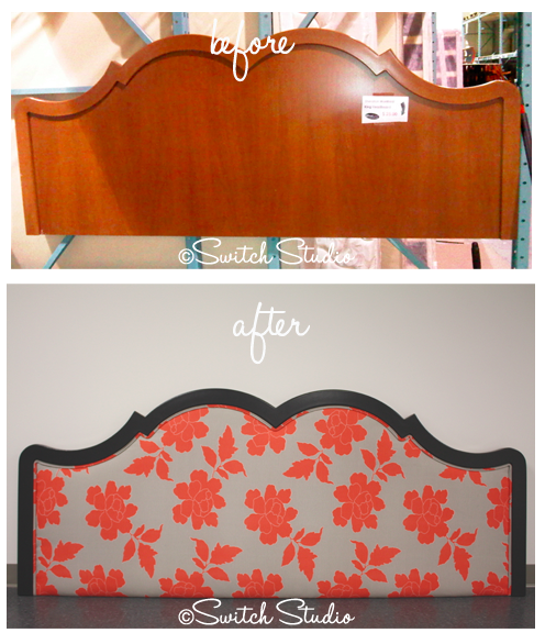Switch Studio: Before & Afters, upholstered headboard, painted, pink ...