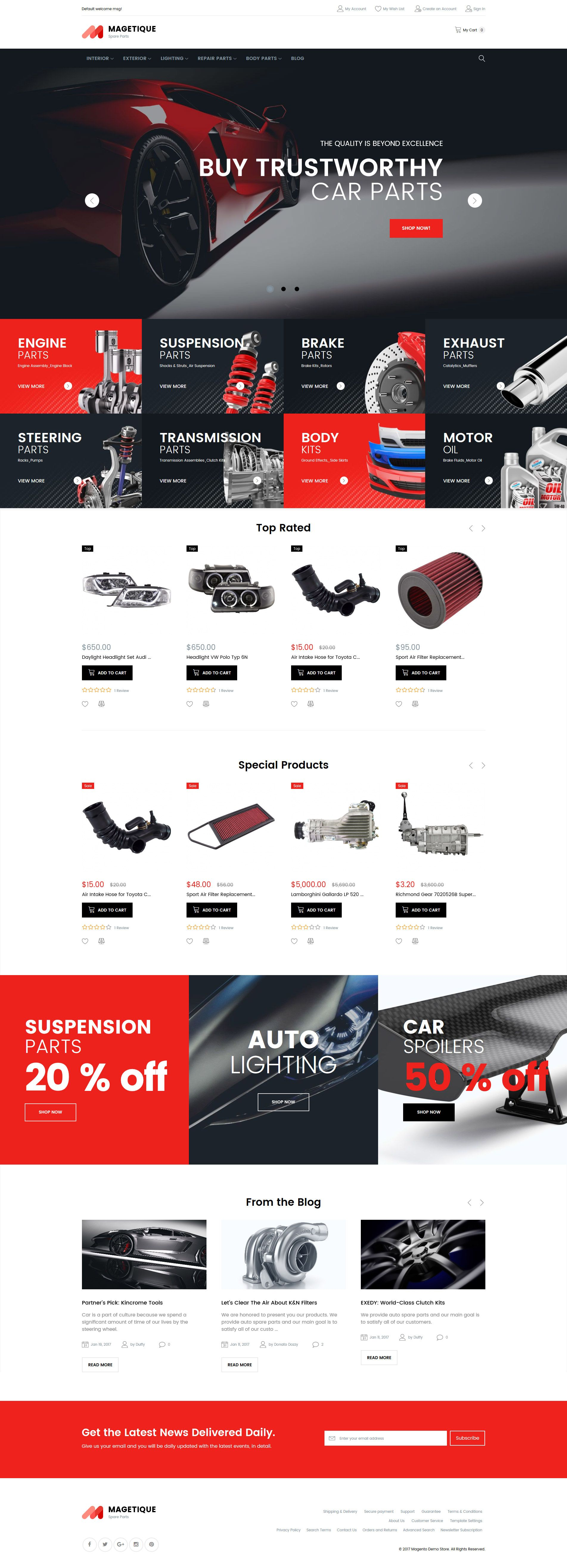 Magetique - Spare parts | Cars, Website and Template