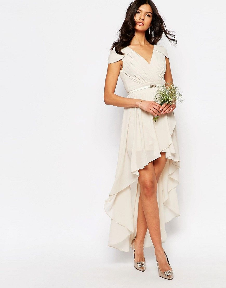 Image 4 Of Tfnc Wedding High Low Cold Shoulder Dress 9