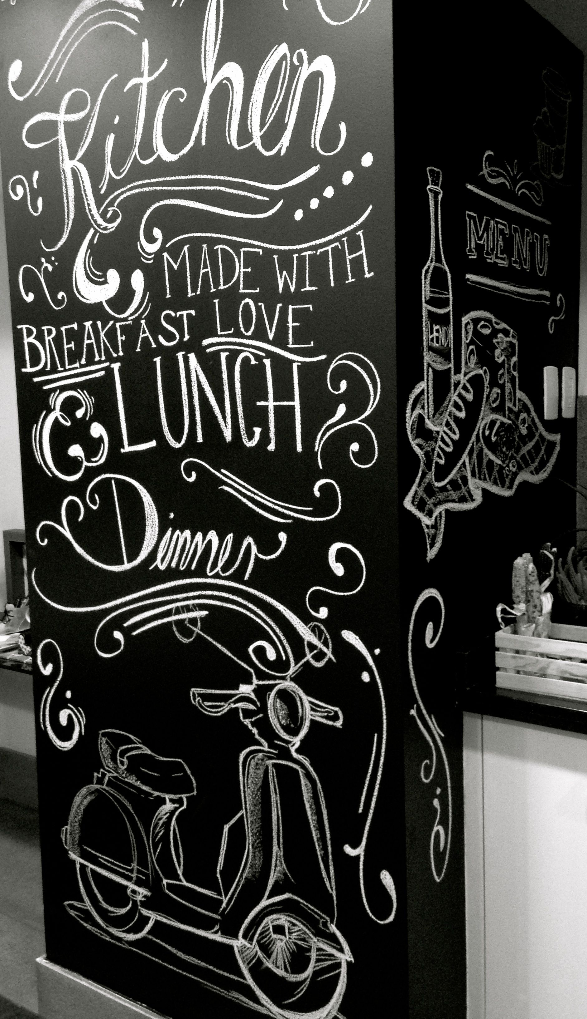 chalkboard art typography