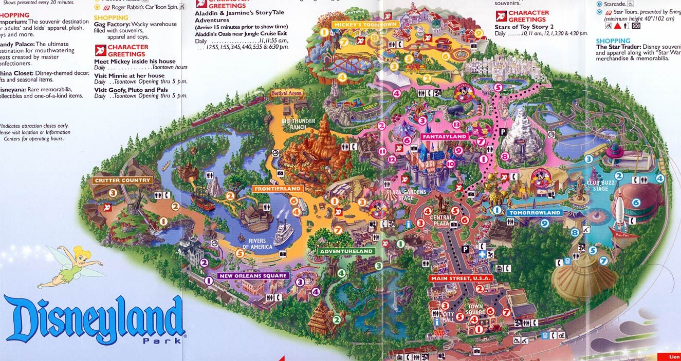 Disneyland map 2004   The Happiest Place on Earth   Pinterest     Disneyland map 2004