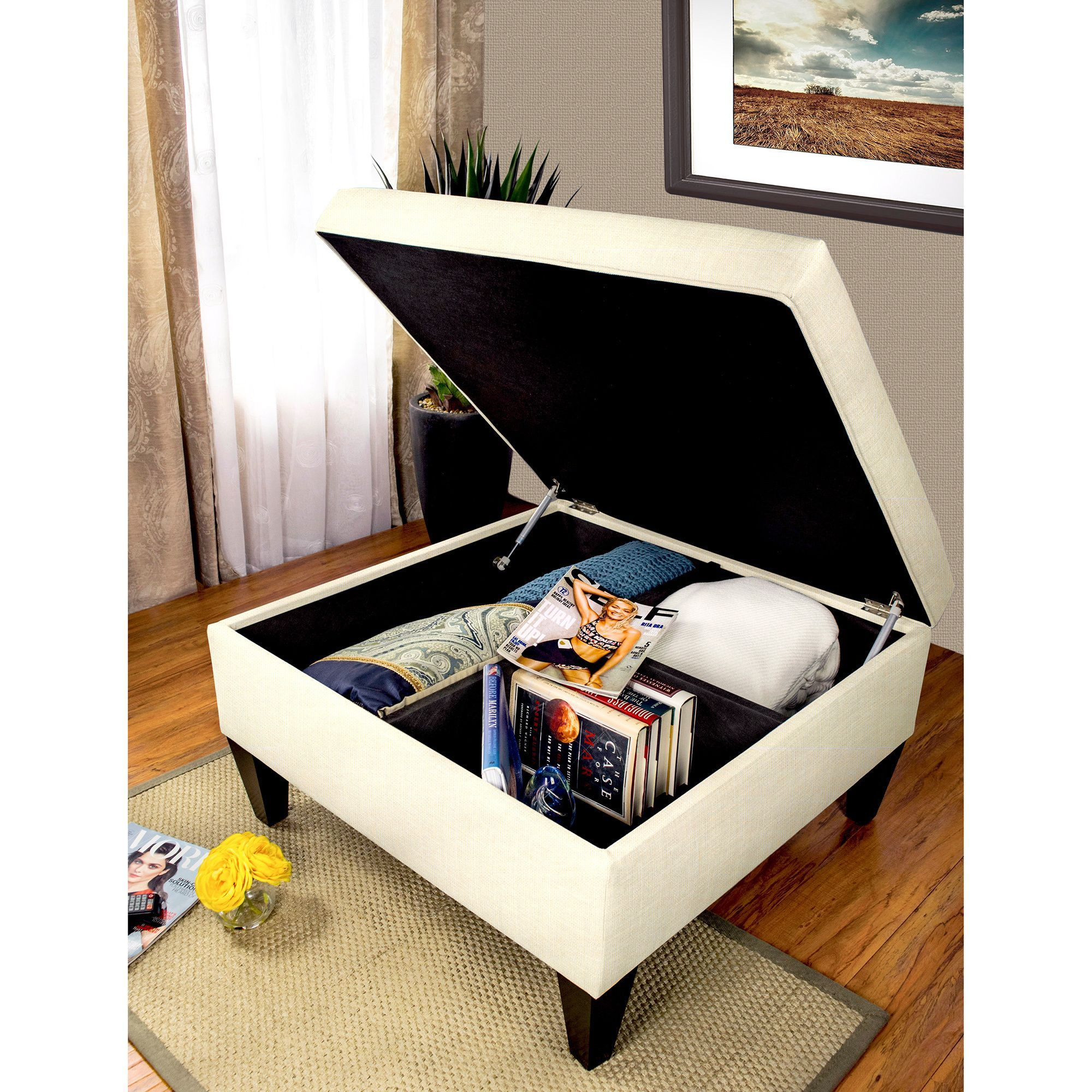 MJL Furniture Manhattan Allure Upholstered Organizational Cocktail ...