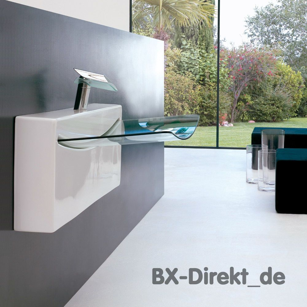 Designer Waschbecken Crystal Wall Keramik Waschtisch Mit