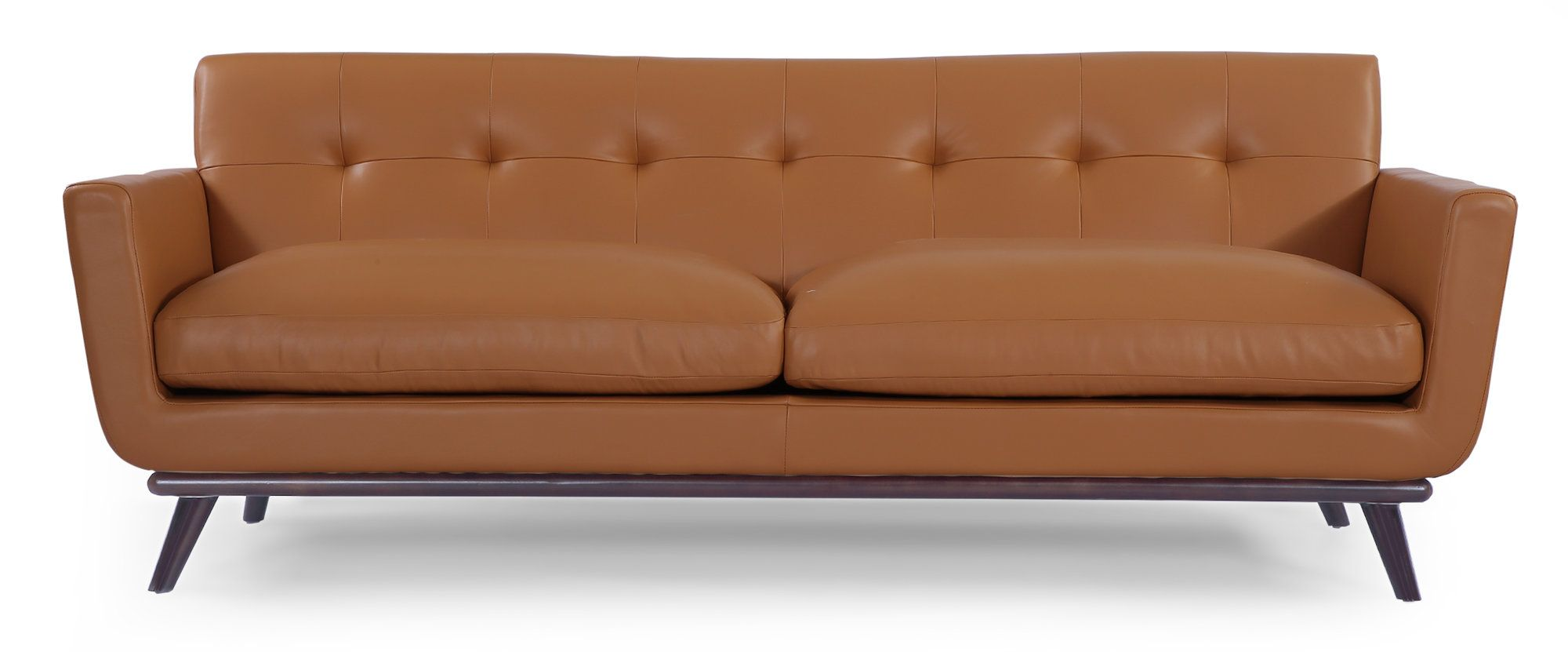 Jackie Mid Century Modern Vintage Leather Sofa