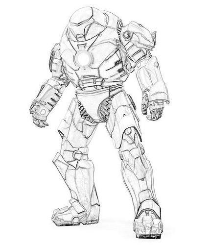 Iron Man Hulkbuster Ironman Dibujo Hulk Buster Sonic Para Colorear