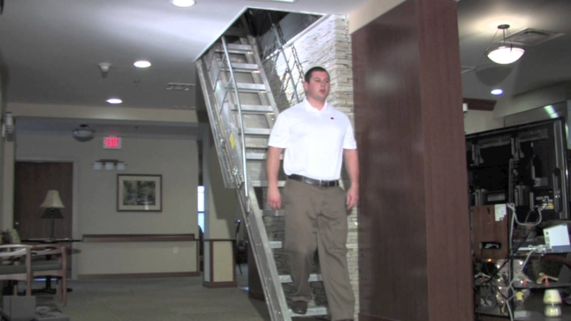Merveilleux Precision Ladders Automatic Electric Disappearing Attic Stairs .