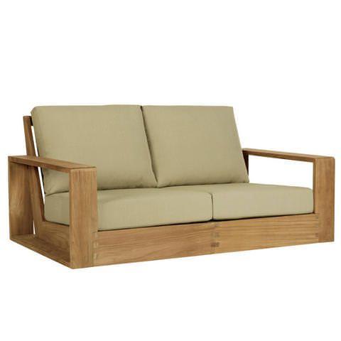 Poolside Loveseat Wood Sofa Pallet Furniture Wooden Sofa