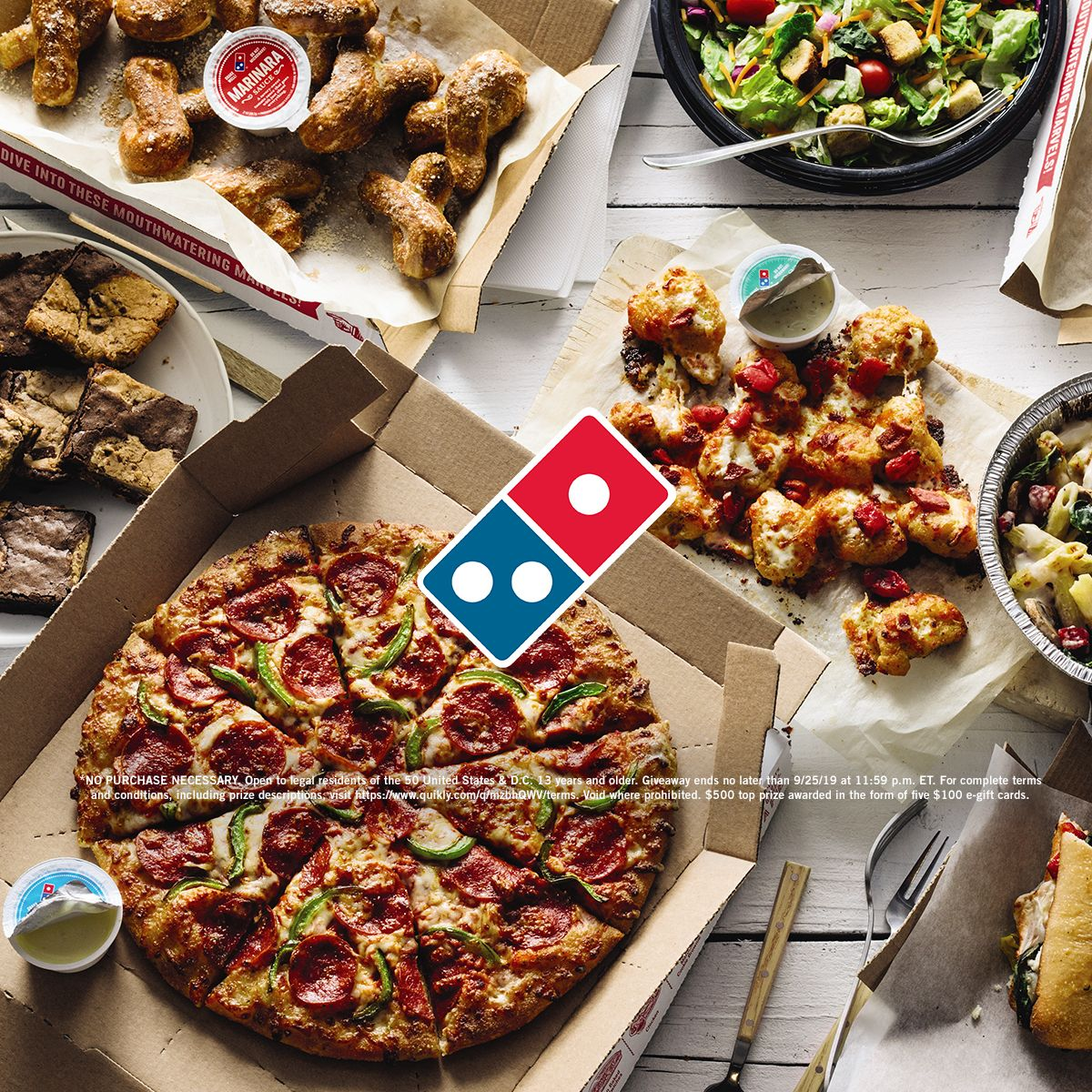 Domino S Fall For A Year Of Free Pizza In 2020 Domino S Pizza Healthy Watermelon Sorbet Dominos Pizza