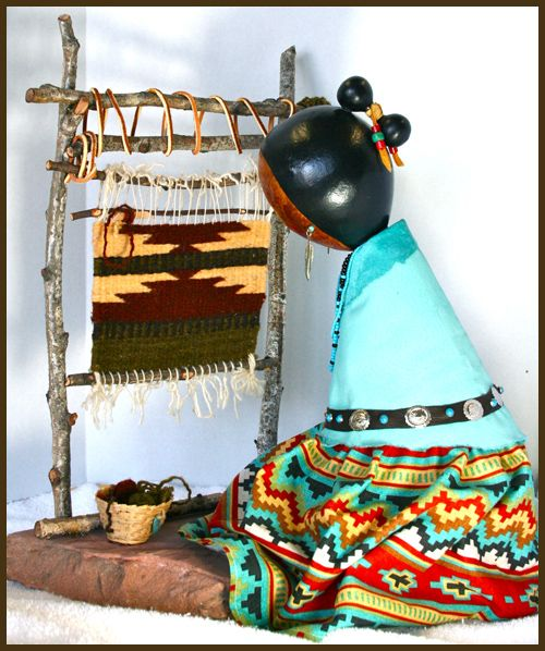 Navajo Weaver Gourd Doll by Norma, Photograph by maria@delpinto.com