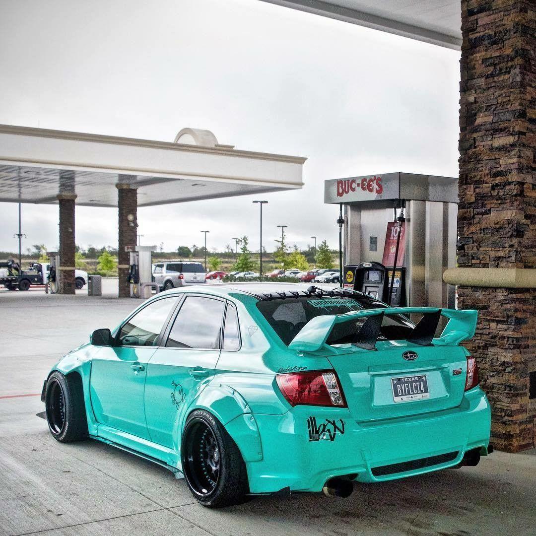 Subaru Sti Modified Wide Body Slammed Cars Pinterest