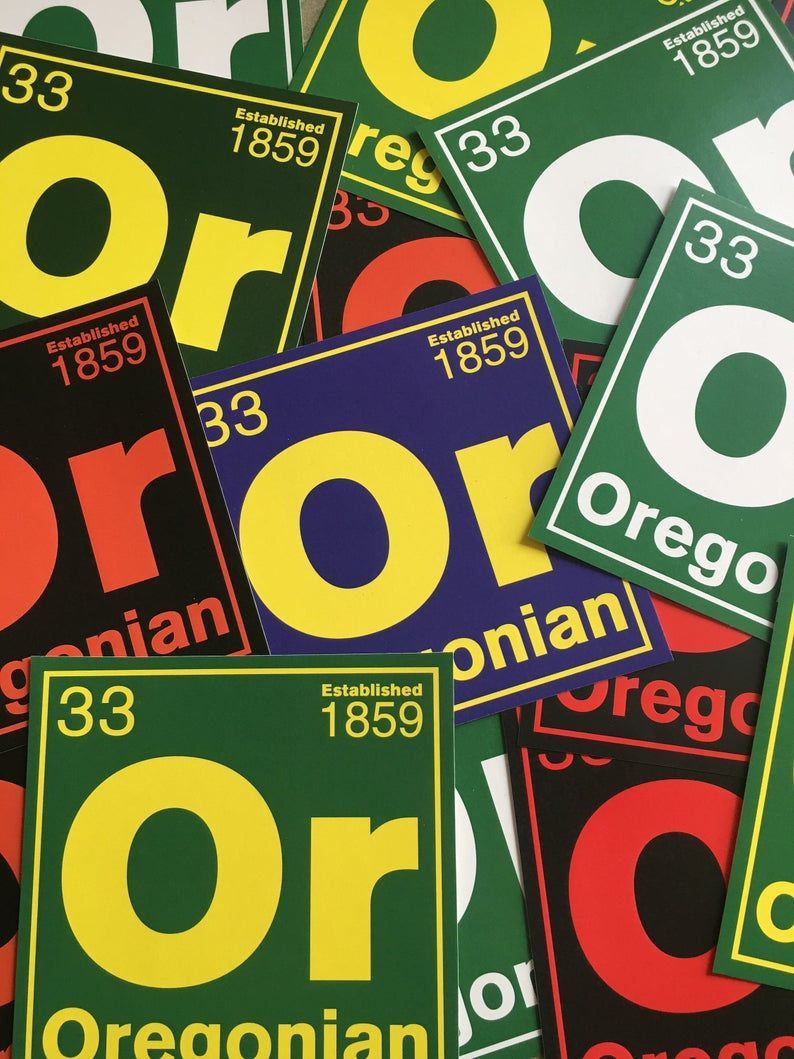 Periodic Table Of Elements Themed Oregon Stickers Etsy Custom Stickers Etsy Theme [ 1059 x 794 Pixel ]