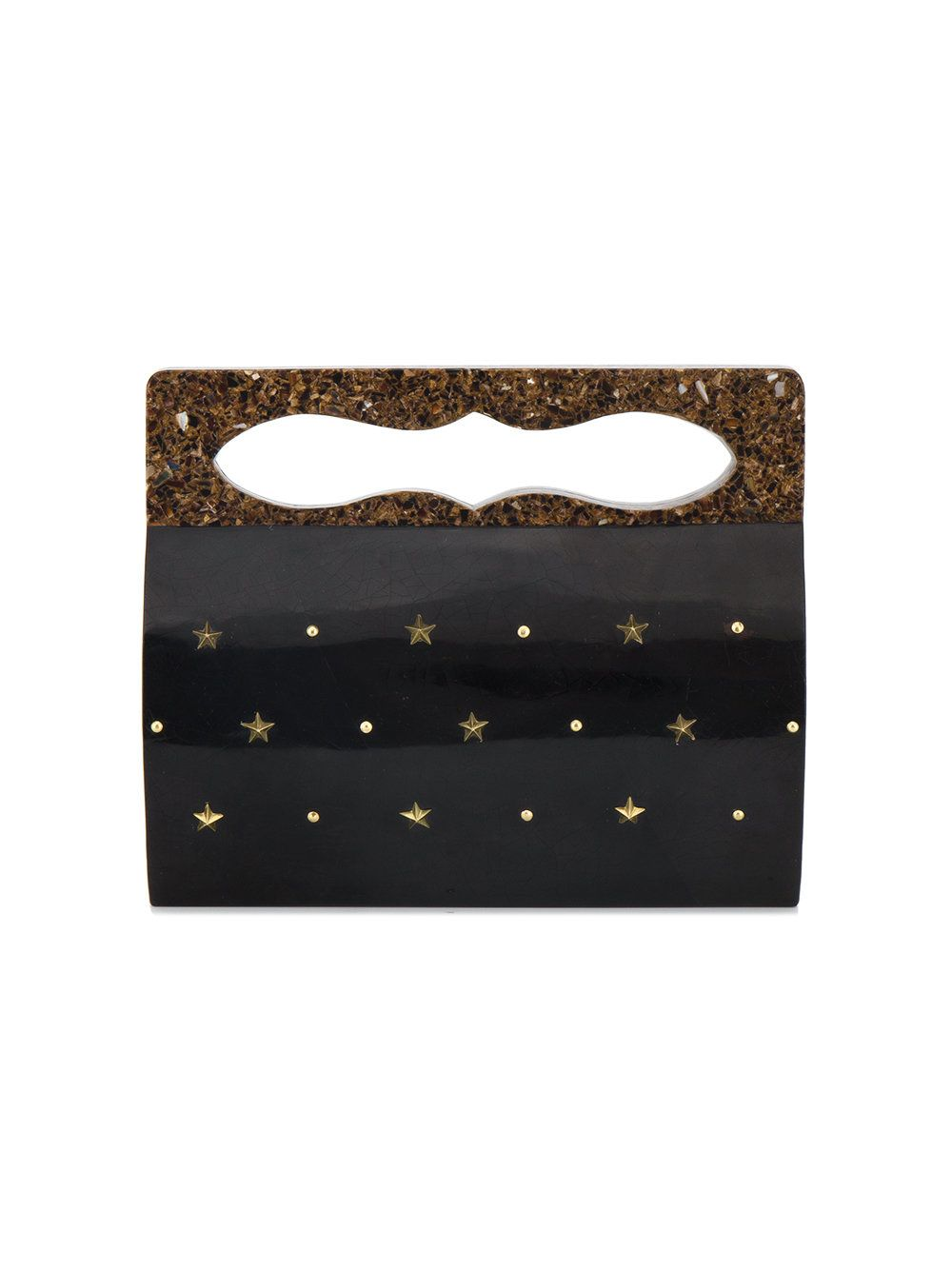 b83370aea0c Nathalie Trad Juno stud embellished clutch   Edgy bags with an ...