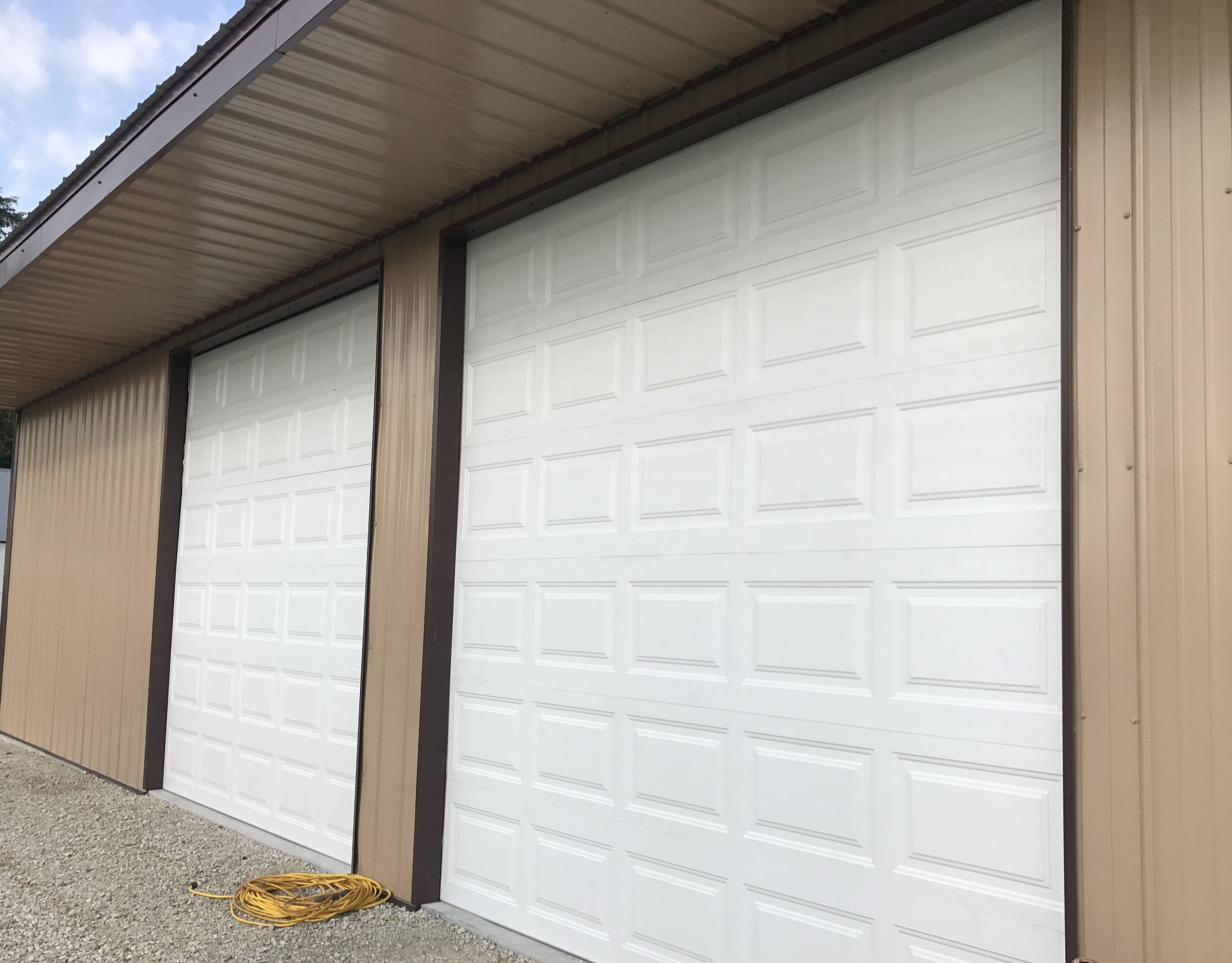 White 10x10 Short Panel Design Garage Door Teamtaylordoors Com Garage Doors Garage Door Repair Service Garage Door Repair