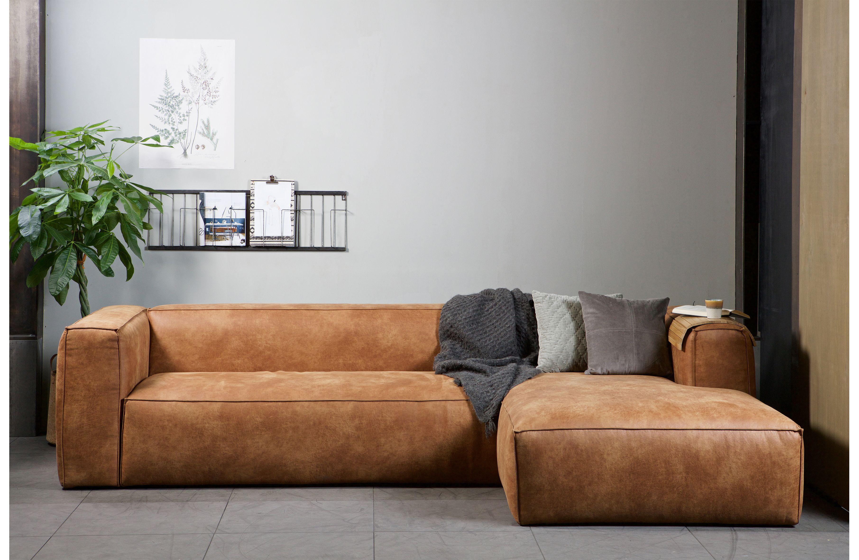 Bean hoekbank rechts cognac | Zitbanken & fauteuils | Woonkamer ...