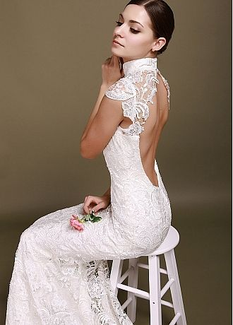 turtle neck wedding dress | bridal dream | Pinterest | Wedding dress ...