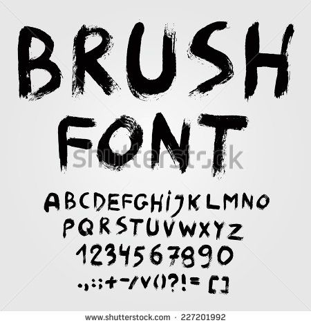 Paintbrush Fonts Stock Photos Illustrations And Vector Art