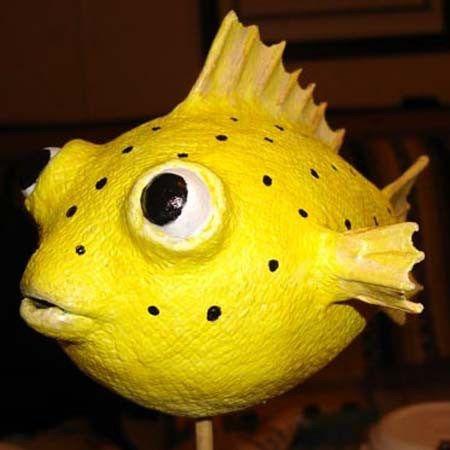 Randolph's paper mache fish