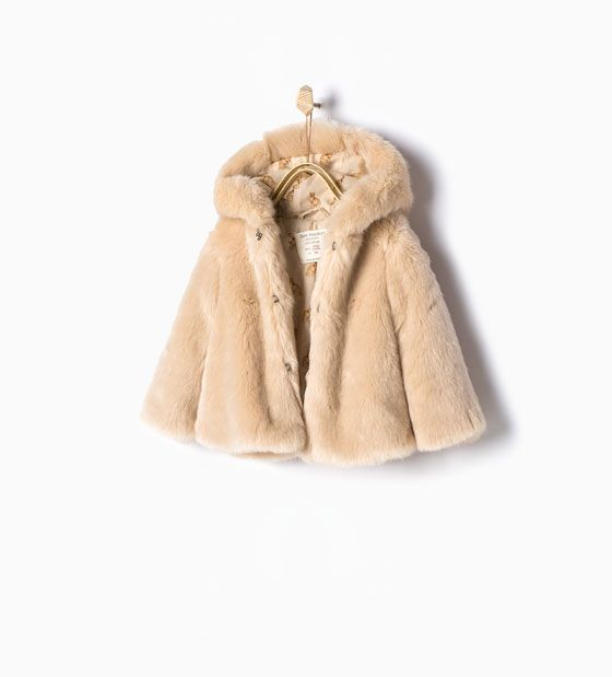 4b9339b18 Three quarter length faux fur coat