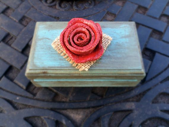 Personalized Wooden gift boxwooden jewelry by CarolaFlowerDesigns