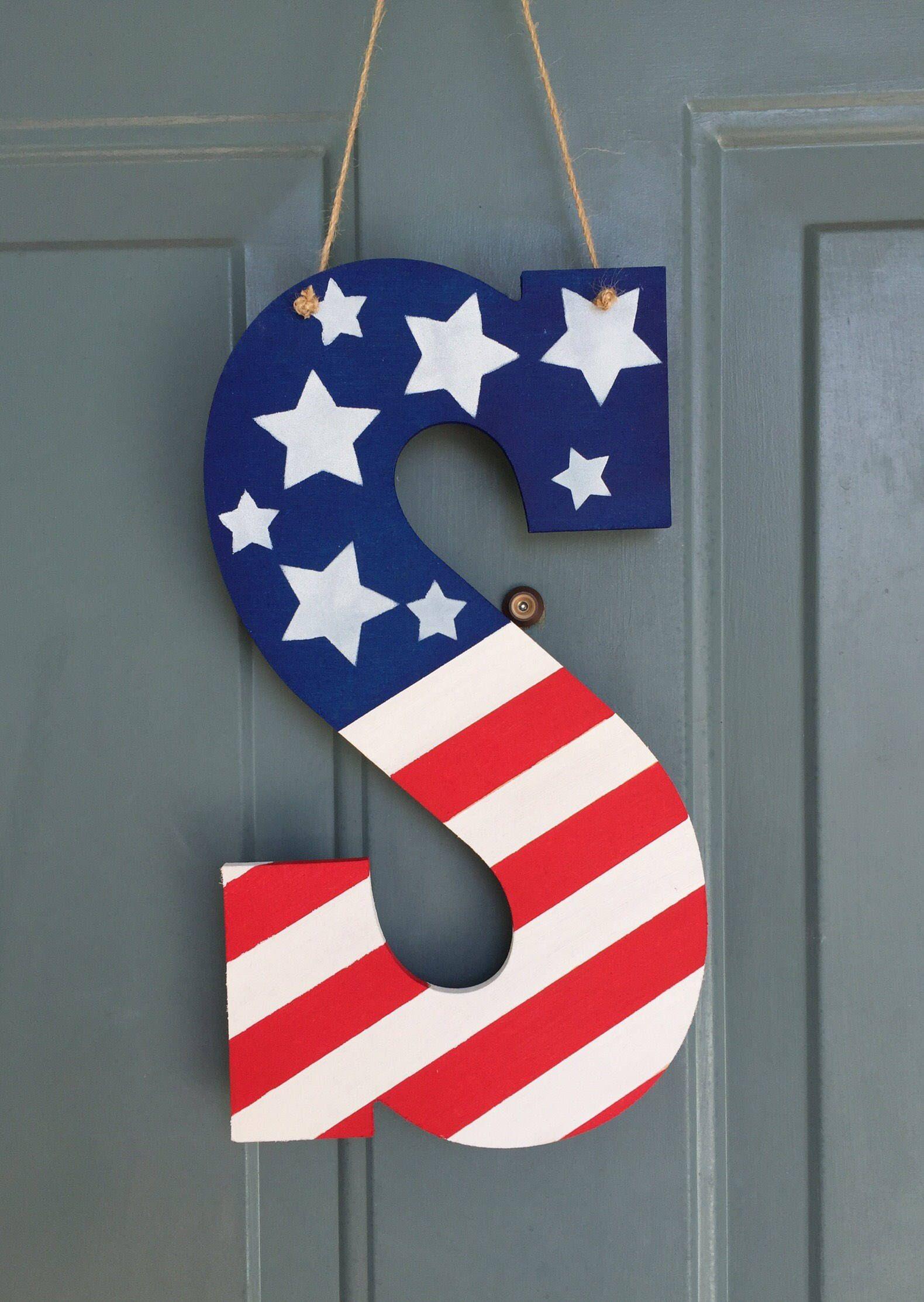 4th Of July Round Door Hanger