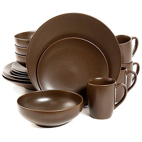 Gibson\u0027s Paradiso Dinnerware Collection will make your dinner table look stylishly modern. Crafted of stoneware this chic set is a beautiful choice for ...  sc 1 st  Pinterest & Gibson Paradiso Round Dinnerware Collection in Brown | Home Sweet ...