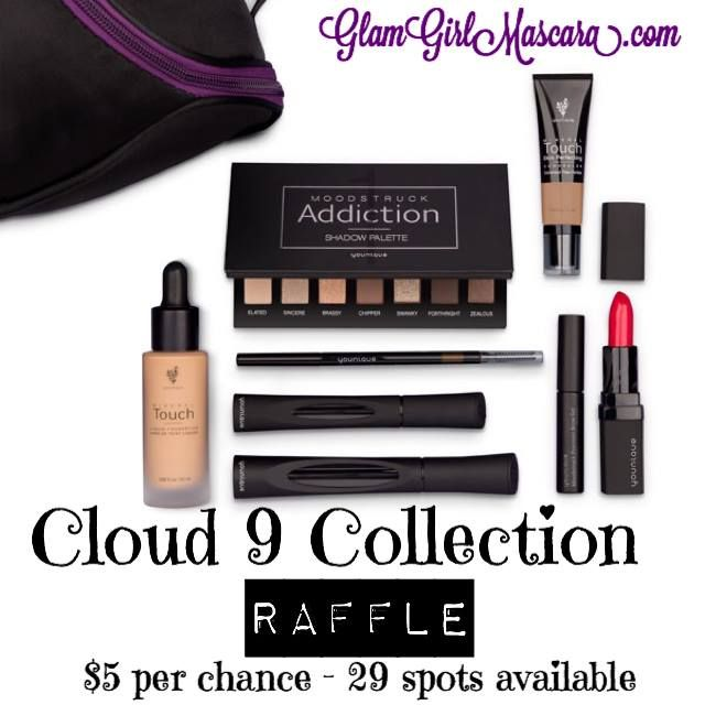 I'm doing a raffle of ALL our new products over at https://www.facebook.com/groups/glamgirlmascara/!!! Only $5/entry (raffle only open to the first 29 people to enter). You could win the Cloud 9 Collection and get ALL our new products!!! EEK! But you have to be a member of my VIP group to enter!