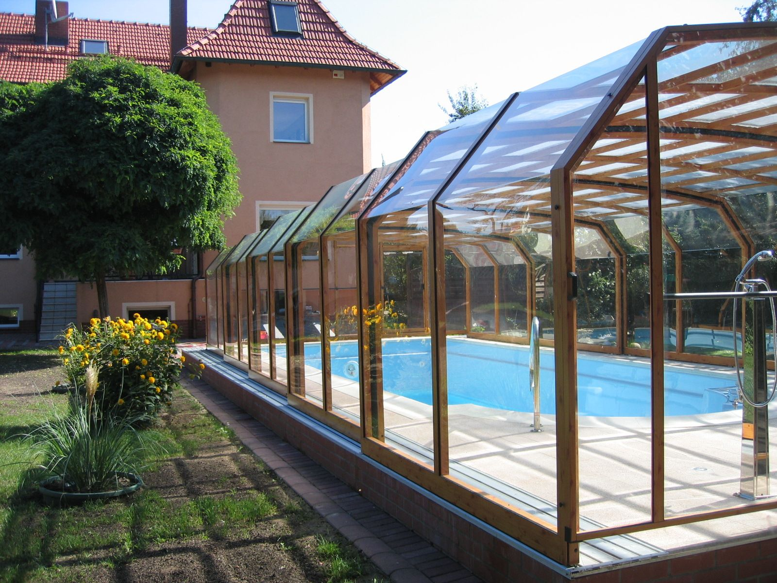retractable swimming pool enclosure oceanic high and spacious