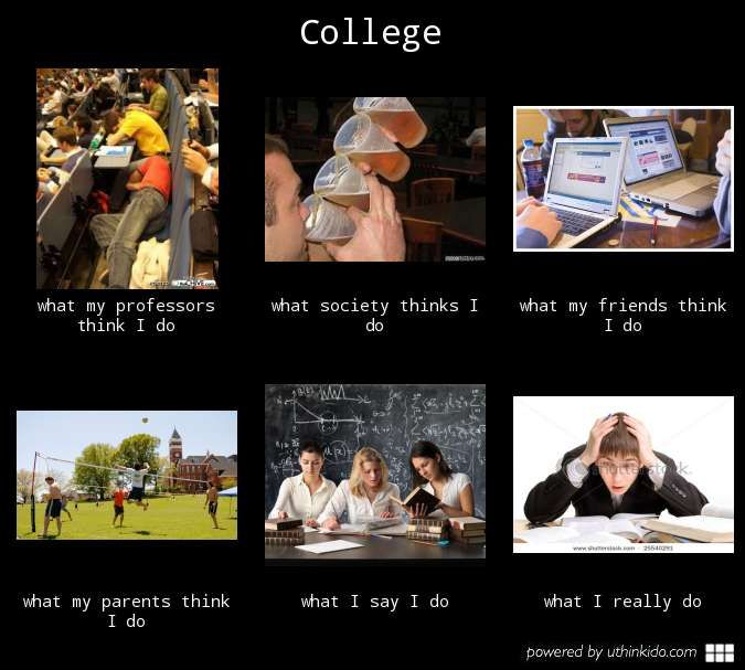 explains my college life