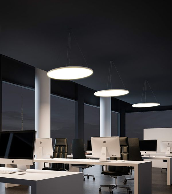 A Well Lit Office Is A Productive Office Led Office Lighting Increases Employees Well Being Add To Office A Led Office Lighting Office Lighting Office Design