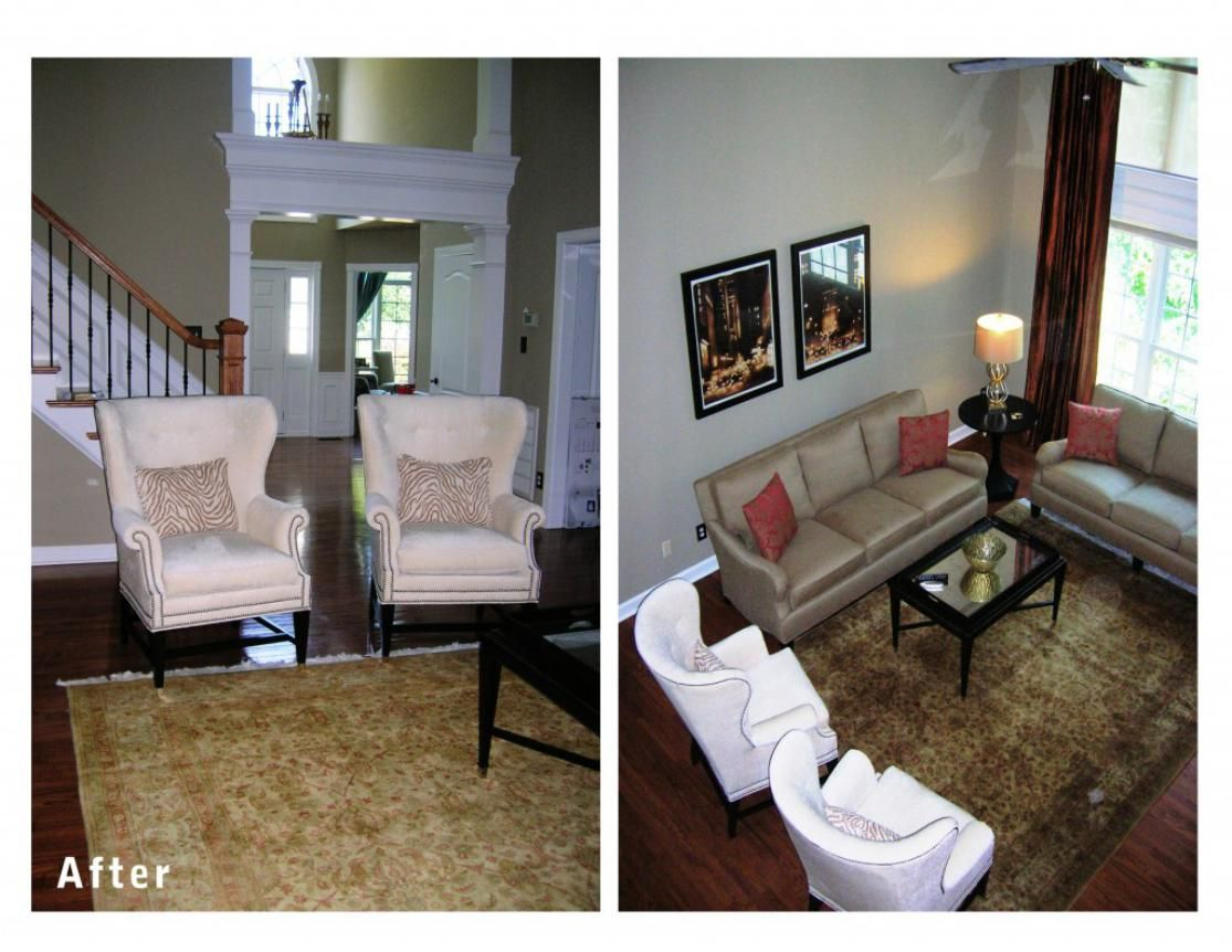 Fabulous room renovation with letaher sofa plus brown curtain as