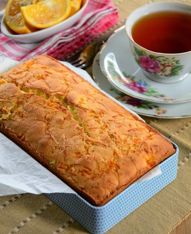 Dapur Tanpa Sempadan Moist Orange Pion Fruit Cake