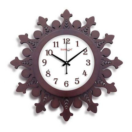Random Woody Wazeer Wall Clock Brown Add Oodles Of Style To Your Home With An Exciting Range Of Designer Furniture Furnishings Decor Wall Clock Clock Decor