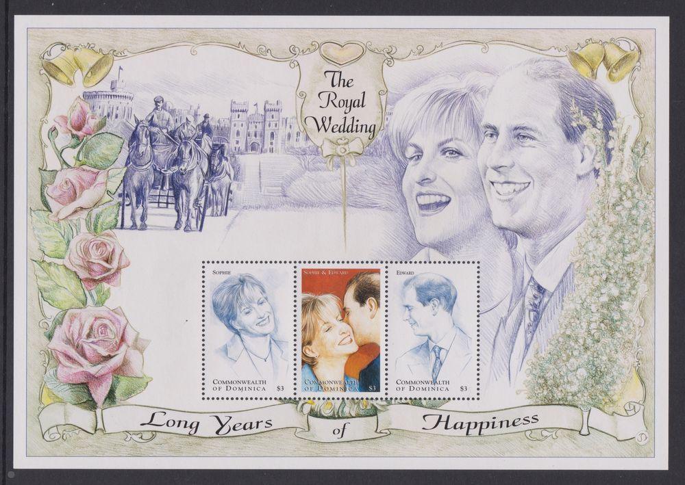 1999 Royal Wedding Prince Edward & Sophie MNH Stamp Sheet