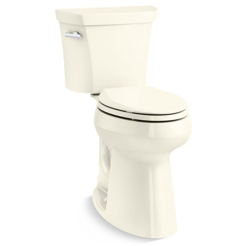 Kohler K 25224 96 Biscuit Highline 1 28 Gpf Two Piece Elongated Tall Height 2 Higher Than Comfort Height Toilet With Left Hand Lever Less Seat In 2020 Tall Toilets Kohler Water Sense